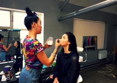 hair and make & make up #mua #studiobeemcrstudiobee #studio #bts #shoot #photoshoot #InstaSize